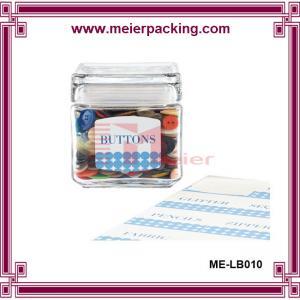 Wholesale waterproof roll bottle label sticker, glass bottle PET labels ME-LB010 from china suppliers