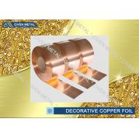 China C1100 C1220 C1020 Decorative Copper Sheet Roll For Electronic Industry on sale