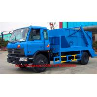 Wholesale Swept - Body Refuse Collector Swing Arm Garbage Compactor Truck Skip Loader Blue Color from china suppliers