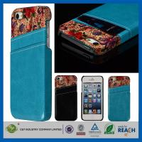 Wholesale Flower Leather Pocket Back Hard Iphone 5 5S Apple Cell Phone Cases With Card Holder from china suppliers