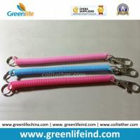 Wholesale Solid Pink Blue Red Spiral Coil Key Holder W/Snap Clip from china suppliers