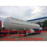 factory direct sale 56,000L lpg gas tanktrailer , high quality 23.5ton propane gas trailer with aluninum cover for sale for sale