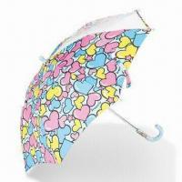 Buy cheap Children's Manual Open Stick Umbrella with Steel Ribs, Color Matched Handle and from wholesalers