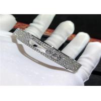 Wholesale Authentic 18K White Gold Messika Full Diamond Bracelet For Girlfriend / Wife from china suppliers