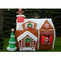 Wholesale Custom Bounce Inflatable Advertising Products Christmas House For Christmas Festival from china suppliers