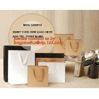 Wholesale OEM/ODM Production Branded Luxury Design Printing Brown Craft Custom Kraft Paper Shopping Bag, Personalized Gift Bags wh from china suppliers