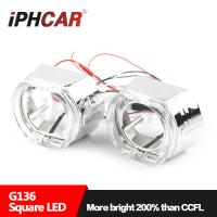 Wholesale IPHCAR BMW Headlight 2.5 inch Shroud For Car Headlight 3 inch 35W Led Headlight Halo Ring Mask For Hid Projector Lens from china suppliers