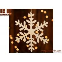 Wholesale Unfinished Wood Laser Cut Snowflake Ornament Christmas tree ornaments Holidays Gift Ornament from china suppliers