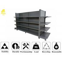 Wholesale Double Side Supermarket Steel Racks With Columns , Back Panel , Top Spacer from china suppliers