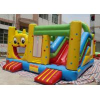 Quality 5 × 5 m Cute Cartoon Inflatable Bounce House Slide Combo For Children for sale