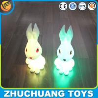 Wholesale clear plastic rabbit coin bank LED light for sale from china suppliers