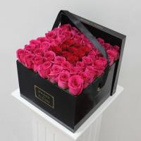 Wholesale China fresh rose packing , Black ribbons handle, valentine,Mother's day  gift box for sale from china suppliers