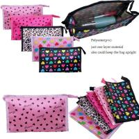 Wholesale Promotional Nylon Dots Printed Travel Cosmetic Bags / Cosmetic Train Cases from china suppliers