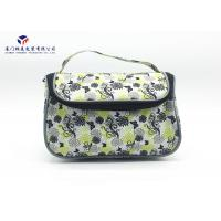 China Toiletries Product Fabric Makeup Bag Black With Oxford Cloth Lining Materials for sale