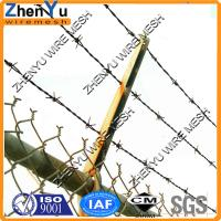 Buy cheap low price anping county galvanized weight of barbed wire per meter length from wholesalers