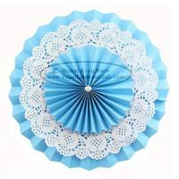 China Multilayer Paper Fan Backdrop Round Folding Fans Hanging for sale