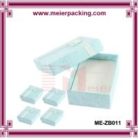 Wholesale Rectangle Shaped Paper Treasure Jewelry Trinket Box Clear Blue ME-ZB011 from china suppliers