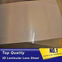 Wholesale Sell Plastic lens100 lpi 3d lenticular 0.35mm PET film matericals for 3d flip zoom morphing animation effects from china suppliers