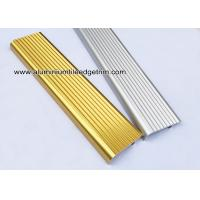China F Type Toothed Anti - Skid  Metal Aluminum Stair Nosing For Tile for sale