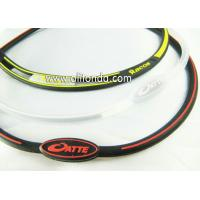 Very slim personalized design rubber bracelet, logo printed silicone wristband for sale
