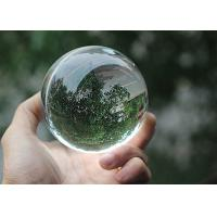 China Transparent Glass Ball Crystal Decoration Crafts 2 - 30cm Diameter Optional on sale