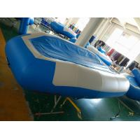 Wholesale Blue Inflatable River Raft PVC Reinforced Bottom 4 Person Inflatable Raft from china suppliers