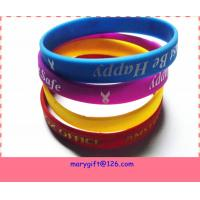 wholesale promotion gift bulk cheap silicone wristbands for sale