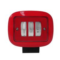 China 30W Red color square shape water proof  vehicle auto led working lights for sale
