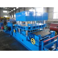 China Imported PLC Control Wayside Guardrail Forming Machine Use Hydraulic Blade Cutting System for sale