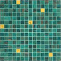 Wholesale Good sale green mosaic with gold line 20mm glass mosaic mix pattern from china suppliers