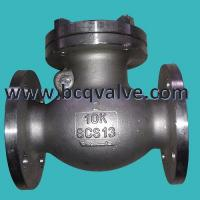 Wholesale JIS/KS 10K/20K FLANGED STAINLESS STEEL SWING CHECK VALVE from china suppliers
