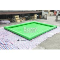 Quality Green Customized Large Square Inflatable Swimming Pool PVC Tarpaulin Material for sale