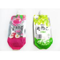 China Custom Printed Stand Up Spout Pouch Heat Sealing For Juice Or Jelly for sale