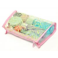 China Plastic women folding makeup toiletry PVC cosmetic bag storage case on sale