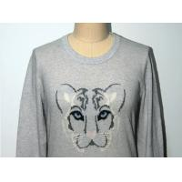 Quality Pullover Leopard Pattern Sweater , Women'S Long Sleeve Sweaters 100% Cotton for sale