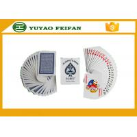 China Paper / Plastic Poker Playing Cards With ROHS / SGS Certification on sale