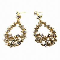 Wholesale Fashionable Drop Earrings with Gold Plating from china suppliers