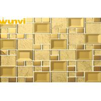 Wholesale Modern Dustproof 48 × 48mm gold mirror Mosaic Tiles , Mirrored Glass Mosaic Tiles from china suppliers