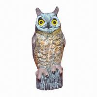 Wholesale Plastic owl, decoy for hunting, garden decoration, simulation animal, blow molding from china suppliers
