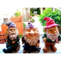 Wholesale Mini Polyresin Lady Garden Gnome with evergreen hat for planter, terrarium, shelf, or window sill from china suppliers