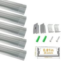clear led aluminum channel u shape 2m anodized sliver profile for for sale