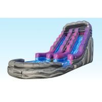 Wholesale 19Ft Purple Inflatable Water Slides Summer Splash With Logo Printing from china suppliers