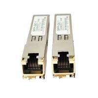 Wholesale OEM RJ45 Copper SFP Fiber Optic Transceiver 1.25G 100m Distance Transmission from china suppliers