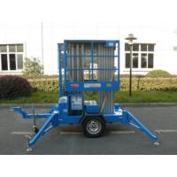 Wholesale Trailer Mounted Lift For Wall Cleaning , 10m Dual Mast Hydraulic Work Platform from china suppliers