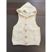 Wholesale Sleeveless Cardigan Kids Hooded Sweater , Cotton Kids White Sweater Vest from china suppliers