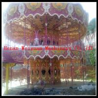 Nice Painting amusement park deluxe double decker carousel rides for sale for sale