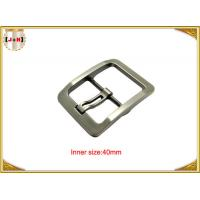 China Silver Plated Zinc Alloy Pin Metal Belt Buckle For Men / coat Belt Buckle Replacement on sale