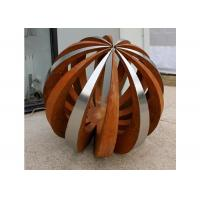 Wholesale Outdoor Decor Corten Steel Sculpture , Painted Stainless Steel Ball Sculpture from china suppliers
