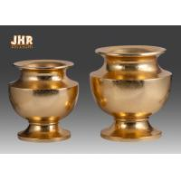 Wholesale Wedding Gold Leafed Fiberglass Centerpiece Table Vases Pot Shape Durable from china suppliers