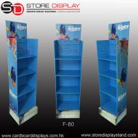 Wholesale Promotional corrugated floor display stand with 4 shelves from china suppliers